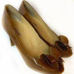 Paul Green Handmade Pleather Peep Toe Heels Sz 8.5
